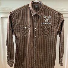 Men's Blac Label 4X Brown Plaid Button Down Long Sleeve Shirt