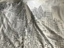 Tahari Home -City- Black & White Shower Curtain New