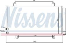 Kondensator, Klimaanlage NISSENS 940443