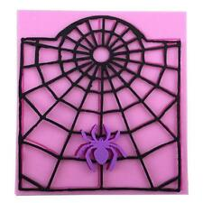 Halloween Silicone Spider Web Cake Decoration Mold Chocolate Mould Baking Tool L