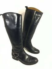 GUC Frye Melissa Knee high Harness Riding Brown Leather Boots Sz 8.5 M