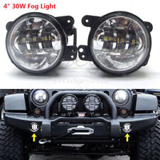 2x 4.5'' LED Auxiliary Passing Fog Lights Waterproof Universal For Jeep JK Dodge
