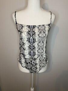 BNWT  Pretty Little Thing size 14 bodysuit snake print
