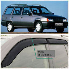 Wide Window Visors Side Guard Vent Deflectors For Opel Kadett E Caravan 1986-91