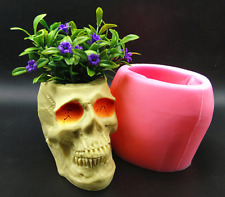 Silicone Cake Mold Halloween Head Skull Plant Pot Mould Baking Decorating Tool