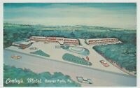 Unused Postcard Conleys Motel Beaver Falls Pennsylvania PA