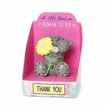 Me to You Thank You Figurine & Flower Boxed Gift Thanks - Tatty Teddy Bear