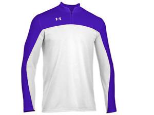 Under Armour Men's Lottery Long Sleeve Shooter Shirt $59.99 Ret 1/4 zip purple