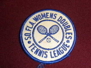 vintaqge South Florida Womens Doubles Tennis League patch applique embroidered