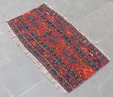 Turkish Kilim Rug 35'x18' Hand Woven Sumak Kilim 90x47cm
