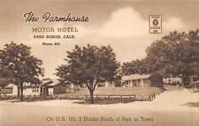 The Farmhouse Motor Hotel Paso Robles California US 101 Roadside Postcard c1930s