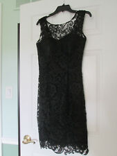 Dancing Queen New with tags Sleeveless  Black Lace Dress sz. Med