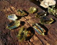 CITRINE CRYSTAL POINT NATURAL CLEAR QUARTZ DOUBLE TERMINATED HEALING GEMSTONE