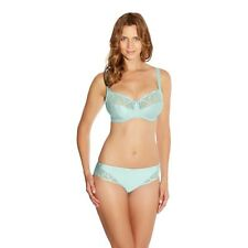 Fantasie ALEX Aqua Blue Nylon Blend 9152 UW Side Support Bra 30F & 9155 Brief S