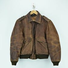 Vintage Schott A-2 Brown Leather Flight Bomber Jacket Made in USA M / L
