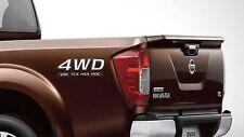 4WD VDC TCS HSA HDC STICKER DECAL PLATE PAIR GENUINE NAVARA NP300 D23 2015-18