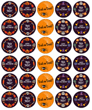 Halloween Kids x 30 Cupcake Toppers Edible Wafer Paper Fairy Cake Toppers .