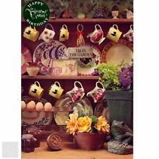 Happy Birthday Greeting Card - Country Style Kitchen