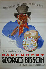 AFFICHE ANCIENNE LITHOGRAPHIE HENRY LE MONNIER CAMEMBERT GEORGES BISSON 1937 ++