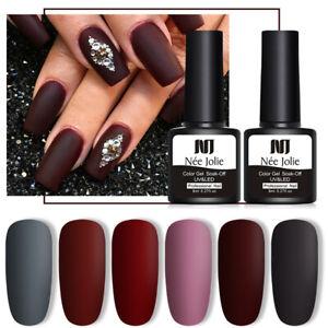 8ml NEE JOLIE Fall Winter Series Matte UV Gel Nail Polish Nail Art Varnish Tips