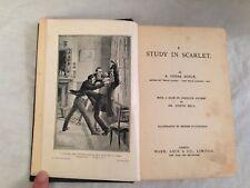 Arthur Conan Doyle - Study in Scarlet - Ward Lock 1902 - Sherlock Holmes, Scarce