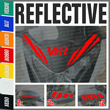 9 x Honda VFR 1200 X 2010 Red Reflective Decals Adesivi Stickers Moto