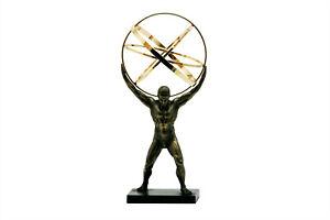 ATLAS TITAN Celestial Sphere Greek God Statue Sculpture Bronze Finish 8.86in
