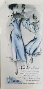 1948 women's blue Colura slip underwear bra vintage lingerie fashion ad