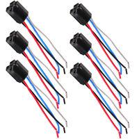 6 pz auto 12 v 12 volt dc 40a amp relè presa di cablaggio pin 4 fili