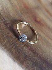Oro 9 CT Diamond Cluster anillo de compromiso