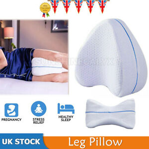 ORTHOPAEDIC MEMORY FOAM LEG PILLOW WASHABLE COVER KNEE BACK HIPS CONTOUR SUPPORT
