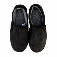 Mens Farah Asbaugh Closed Back Slipper In Black- Slip On- Cushioned Insole- Soft
