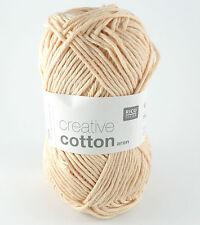 Rico Creative Cotton Aran - 100% Cotton Knitting & Crochet Yarn - Powder 61