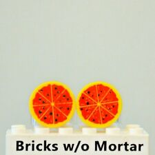 New Genuine LEGO Two Yellow Pizza Tiles Food Kitchen