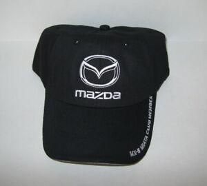 New Mazda Unisex MX-5 Miata Club Member Baseball Hat Cap Black Adjustable