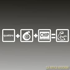quattro aufkleber Quattro+turbo+Chip=Power Sticker quattro autoaufkleber turbo