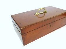XXL Große Holzschatulle Zigarrenkiste ? mit Bronzegriff um 1860 Schatulle B-545