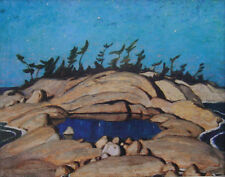 "A.Y. Jackson, Group of Seven ""Night, Pine Island"" Large Print"