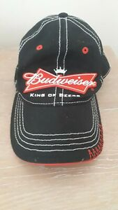 "BUDWEISER ""King of Beers"" Crown Bow-Tie Logo Retro-Style Adjustable Cap / Hat"