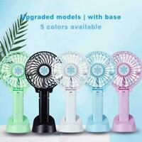 Mini Desk Fan USB Rechargeable Portable Hand-held Cooler Cooling A1R6