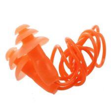 Tapones para los oidos para Natacion Dormir Tapones naranjas de silicona con cX7