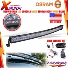 OSRAM 52INCH 500W LED CURVED WORK LIGHT Bar Flood Spot Combo OFFROAD SUV ATV XM