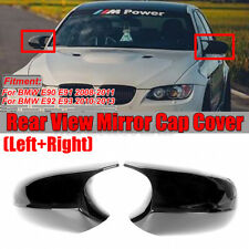 Pair M3 Style Side Mirror Cap Covers For BMW E90 E91 E92 E93 Facelifted