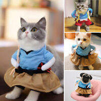 Dog Cat Pet Costume Uniform Suit Clothes Puppy Samurai Dressing Cosplay