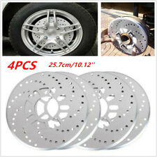 4 Pcs Silver Tone Aluminum Cross Drilled Car SUV Wheel Disc Brake Rotor Covers