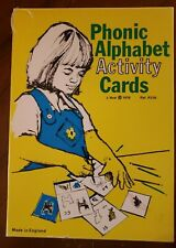 Phonic Alphabet Activity Cards Didax 1976 Vintage stencil tracing