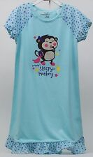 "Jumping Beans ""Mommy's Sleepy Monkey"" Raglan & Matching Doll Nightgown Size 7"