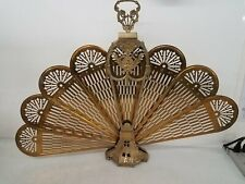 Vintage Brass Fireplace Screen Home Décor