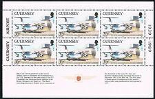 Guernsey 1989 blad uit pb 6 maal 457 vliegtuigen planes cat waarde € 9