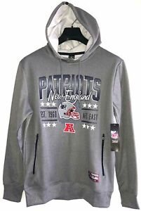 New England Patriots NFL Apparel Hooded Sweatshirt Men's M Gray NEW WITH TAGS